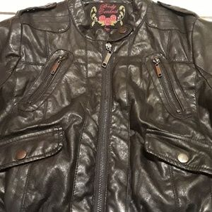 Body Central Medium Leather Jacket